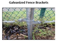Attach wire to cyclone fence post espalier trellis