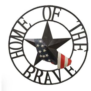 Home Of The Brave Outdoor Welcome Wheel