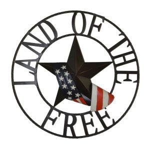 Land Of The Free Outdoor Welcome Wheel