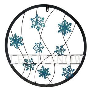 Let It Snow Outdoor Holiday Welcome Wheel