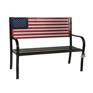 American Flag Outdoor Garden Bench