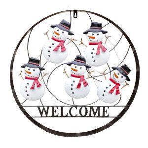 Dancing Snowman Outdoor Holiday Welcome Wheel