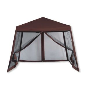 Luxury Pop Up 10x10 Canopy With Screen Sides