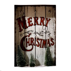 Merry Christmas Holiday Sign With LED Light