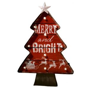 Merry and Bright Hanging Holiday Wall Sign