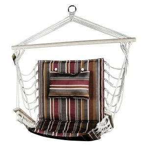 Hanging Hammock Chair With Pillow Spice Stripes Pattern