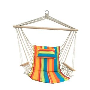 Hanging Hammock Chair With Pillow Multi-Colored Pattern