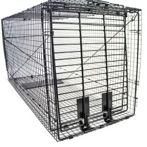 Humane Way Foldable Metal Animal Trap 50 Inch x 20 Inch x 26 Inch