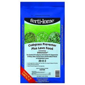Fertilome Crabgrass Preventer Plus Lawn Food with Dimension