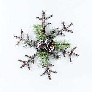 Twig Snowflake Wall Art