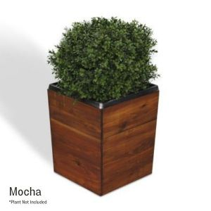 17 Inch Square Tapered Wooden Planter