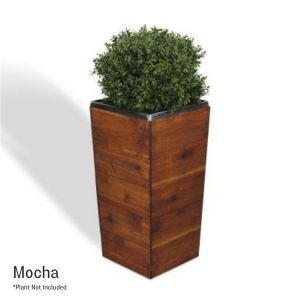 28 Inch Square Tapered Wooden Planter