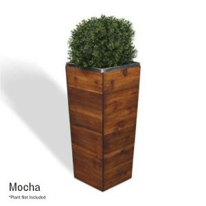 33 Inch Square Tapered Wooden Planter