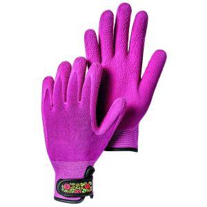 Hestra Fuchsia Garden Bamboo Foam Latex Dip Gloves