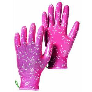 Hestra Fuchsia Garden Dip Nitrile Dip Gloves