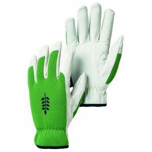 Hestra Green / White Kobolt Garden Goatskin Gloves