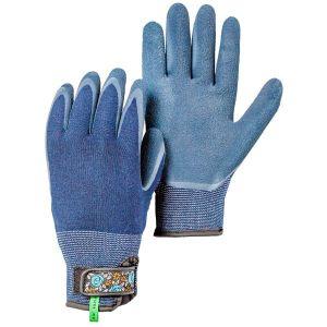 Hestra Indigo Garden Bamboo Foam Latex Dip Gloves
