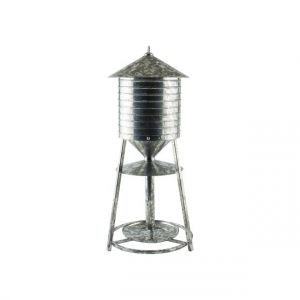 Woodlink Rustic Farmhouse Galvanized Water Tower Seed Tray Feeder