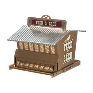 Woodlink Rustic Farmhouse Brown Absolute Squirrel Resistant Bird House
