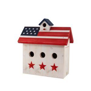 Woodlink Patriotic Red White & Blue 3-Port Wren House