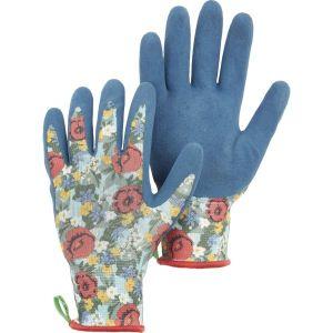 Hestra Blue Floral Latex Dip Glove