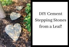 DIY Cement Stepping Stones from a Leaf!
