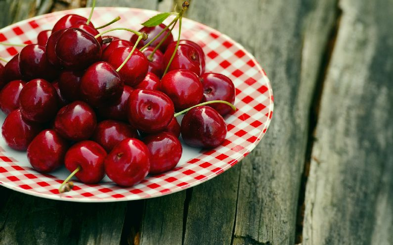 Homegrown cherries share with your family