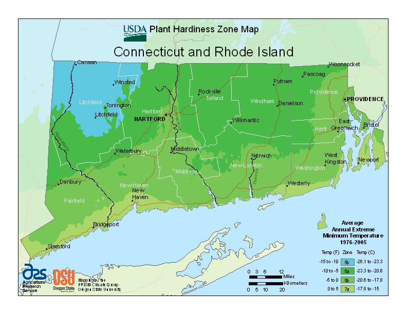 Connecticut Plant Zone Map