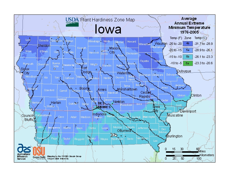 Iowa Plant Zone Map