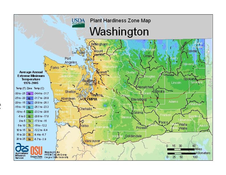 Washington Plant Zone Map